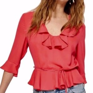 ☘️3/$50☘️ NEW TOPSHOP Phoebe Frilly Blouse